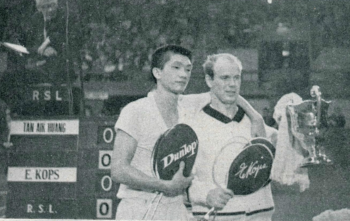 Champ kops and tan aik huang ms all england 1965 - pic by a mutch