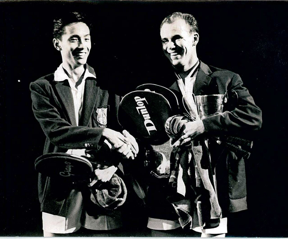 Thai c wattanasin (l) finished runner-up to dane e kops at 1960 all england