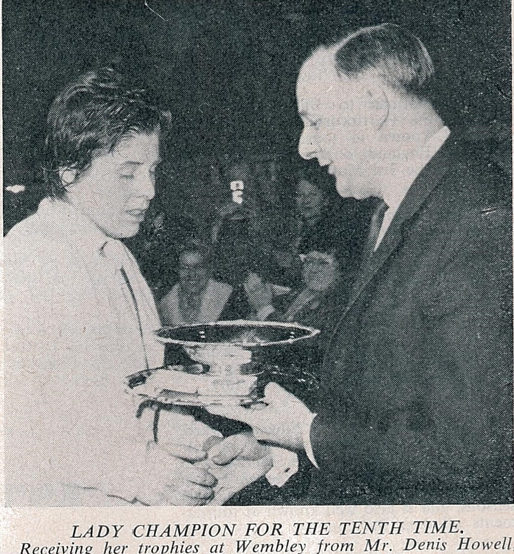 J hashman - wins 10th all england - with denis howell - bg may 1967