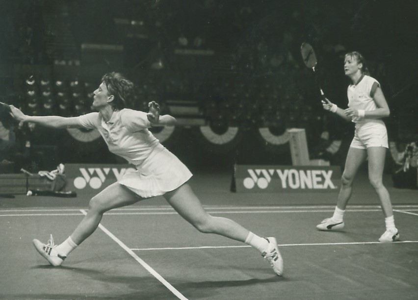 Gillian gilks + nora perry in action in 1985
