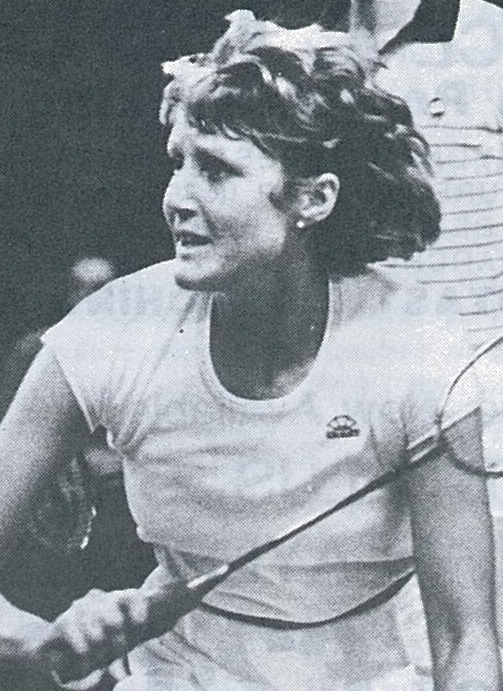 Nora perry - xd winners all england  - wb june 1983 - pic by preben soborg.