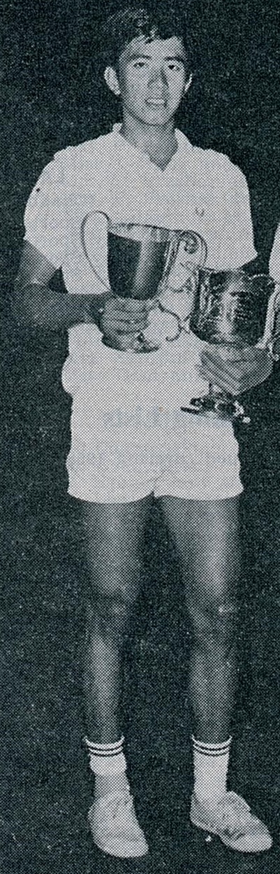 Rudy hartono after claiming his 1st all england ms crown in 1968 - ibf handbook for 1970