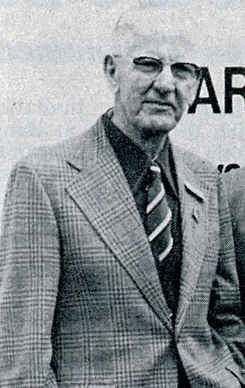 Frank devlin - 6 all england titles, 1922-31 - wb may 1976 - pic by jkd lacey