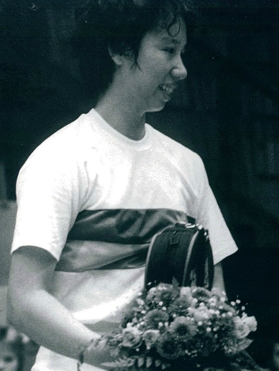 Chinas doubles ace han aiping in 1984 - pic by preben soborg