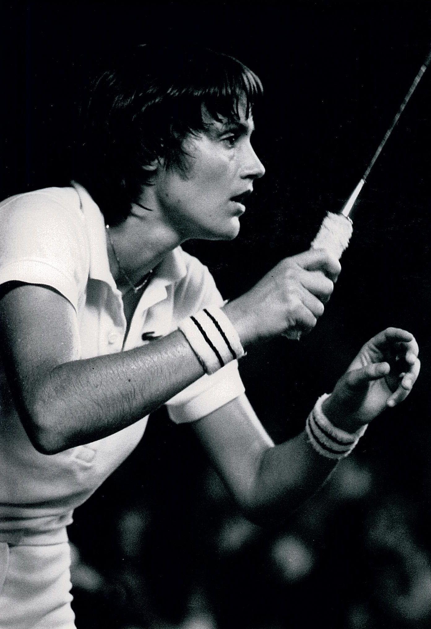 A picture of concentration... lene koppen at 2nd w cships jakarta 1980 - pic by louis ross