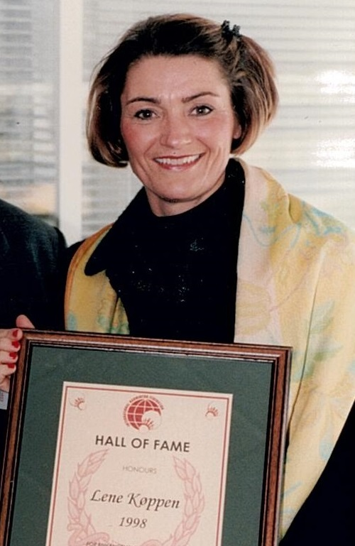 Lene koppen gets inducted into the hall of fame in 1998