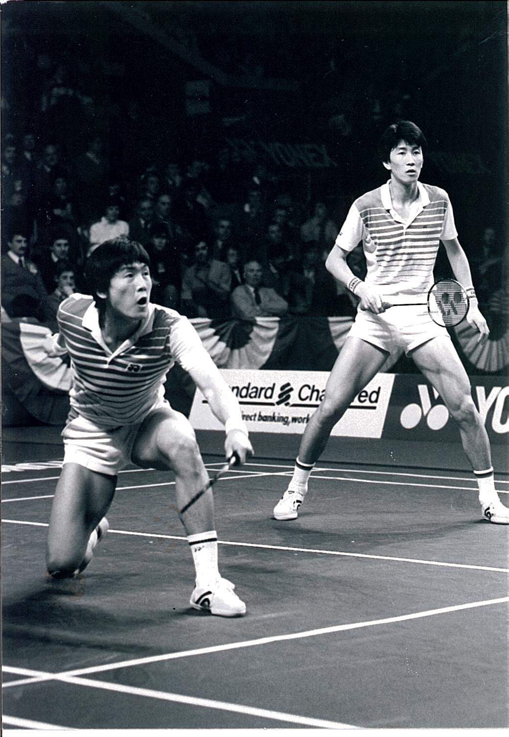 Park + kim in action at 1985 all england