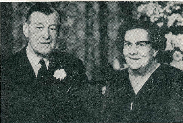 Brig r bruce hay and his wife on their golden wedding anniversary - badminton gazette apr-may 1961