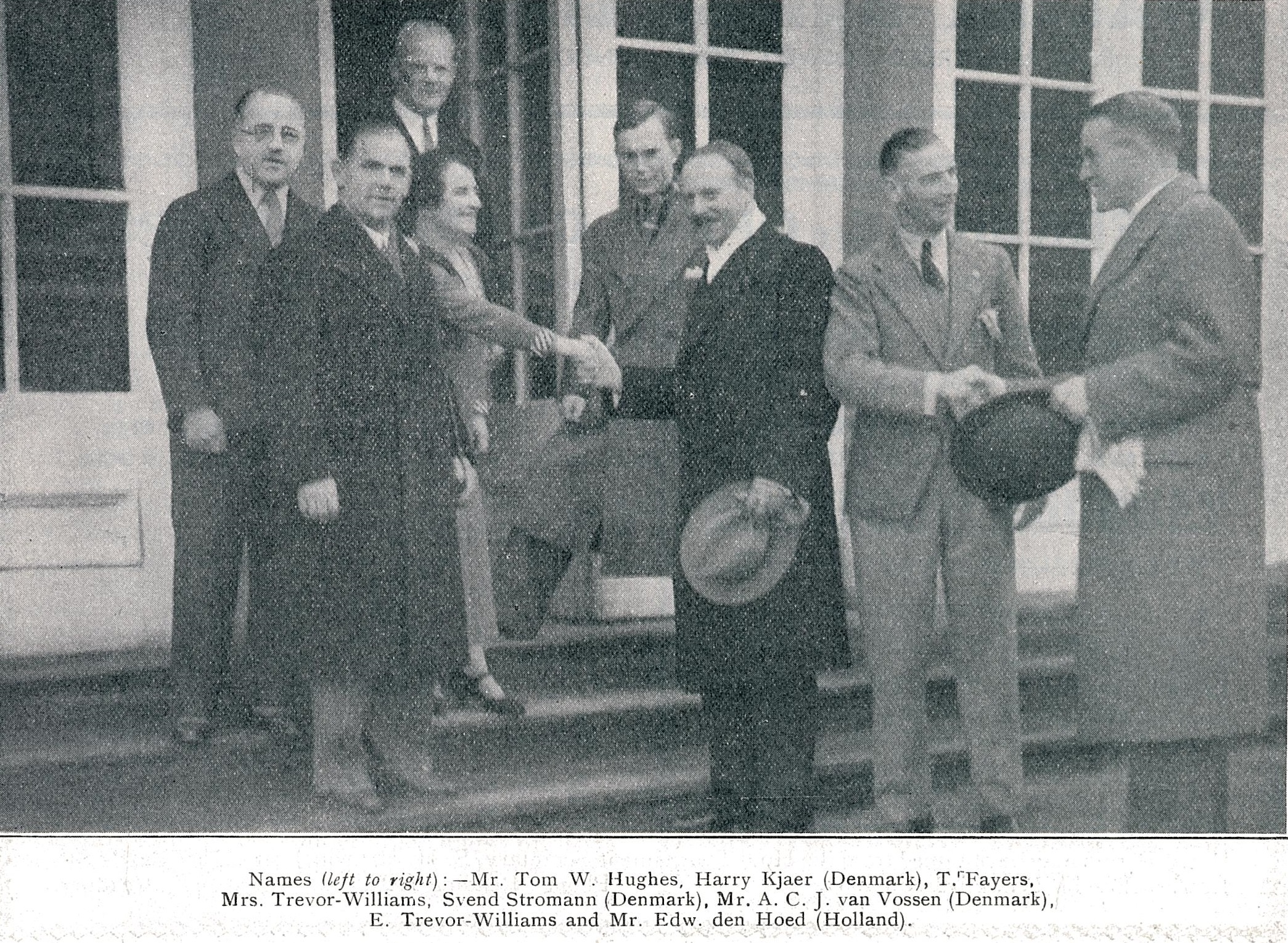 Acj van vossen (3rd from right) - january 1934 badminton gazette