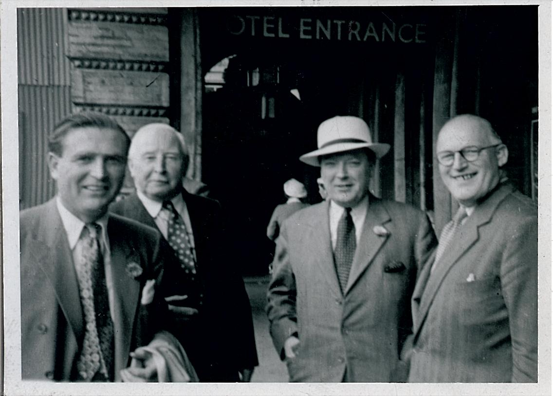 Mccallum (2nd from l) in an undated photo with david bloomer (3rd from l) and two others