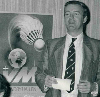 Reedie during the draw of the 1983 world championships - pic by preben soborg