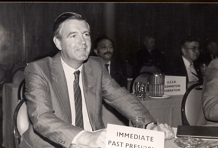 Sir craig at the 1985 agm - pic by louis ross