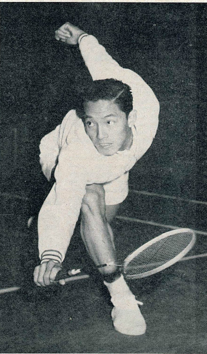 Charoen the talented thailander - badminton gazette march 1961