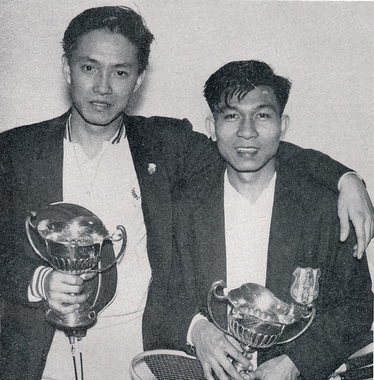 Charoen with partner t khadjadhai after northern cships doubles win - bg dec 1960