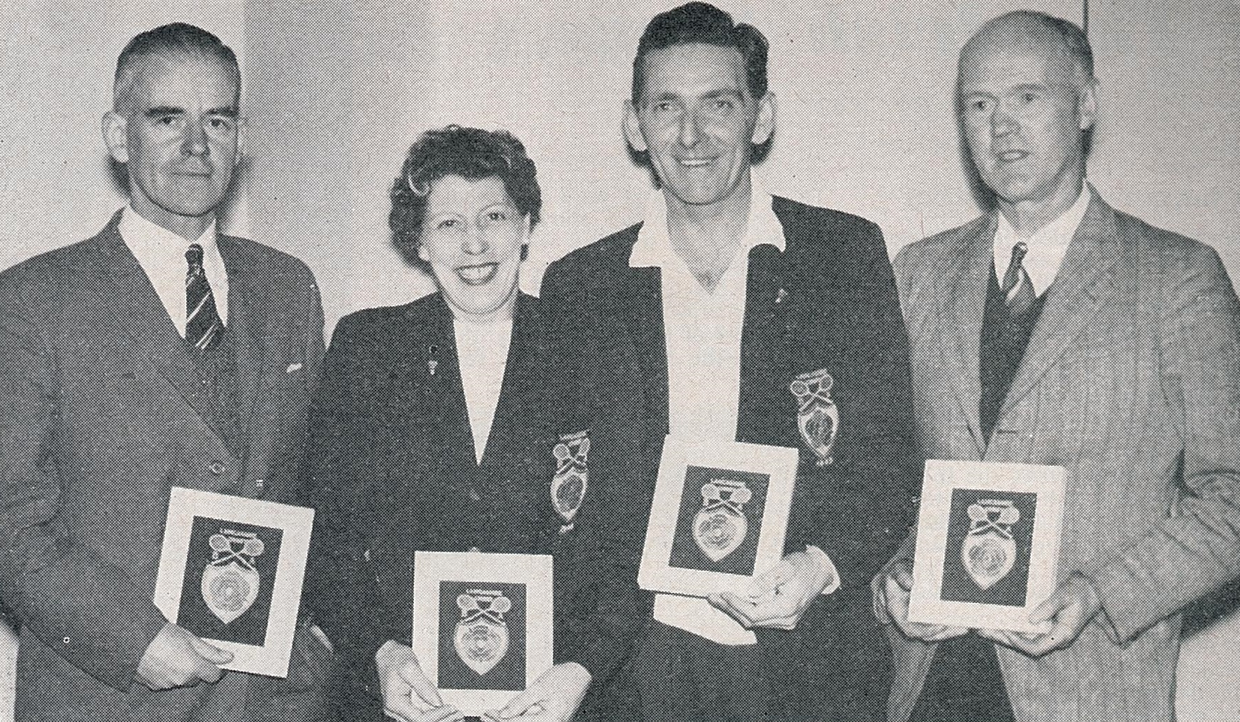 Harold morland awarded for representing lancashire over 50 times - badminton gazette nov 1960