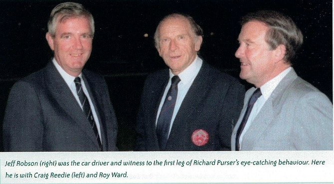 Jeff robson (r), roy ward (centre) with and craig reedie (l) - bwf 75th anniv book