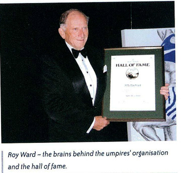 Roy ward - brains behind umpires organisation and hall of fame -75th anniv book