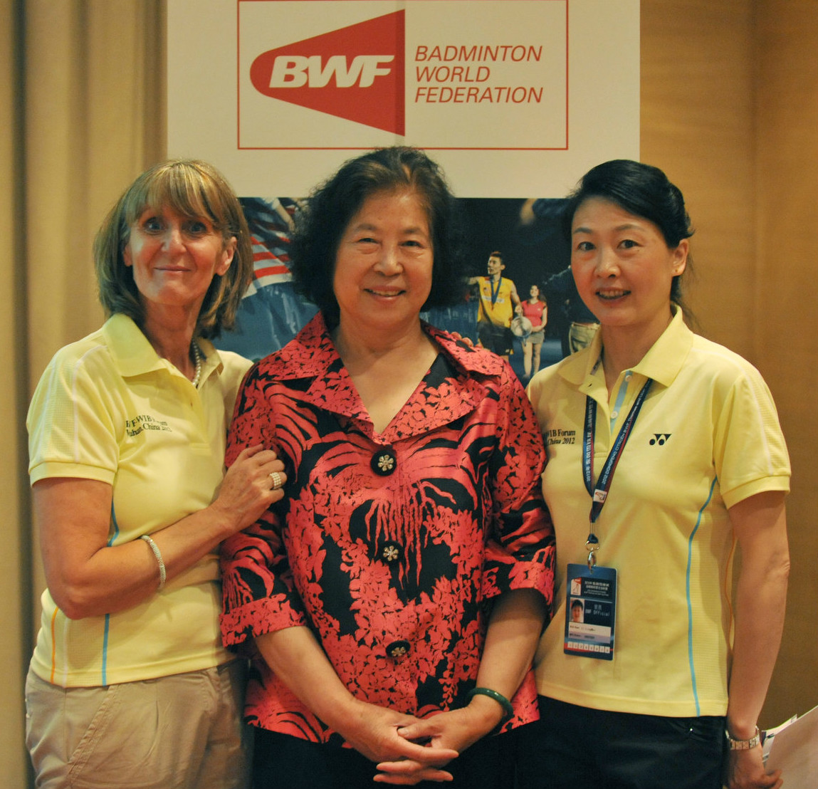 (l-r) nora perry, mdm lu and li lingwei during the womens forum 2015 - womens forum 4
