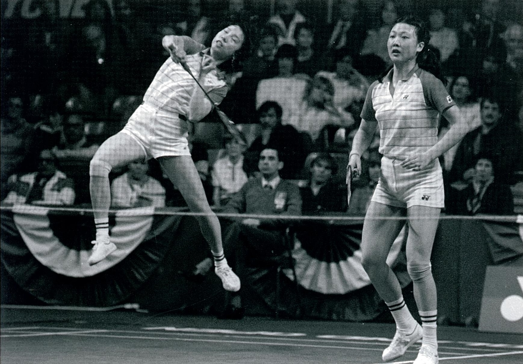 Han aiping + li lingwei in action in 1985 - pic by ulrich reddiq