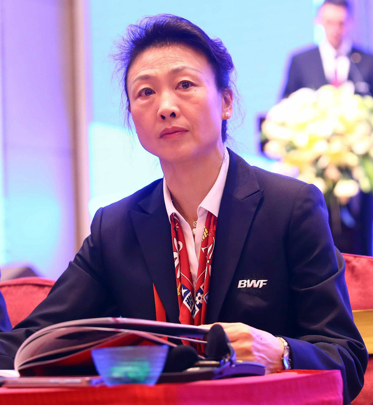 Li lingwei during bwf agm in may 2015 at dongguan, china