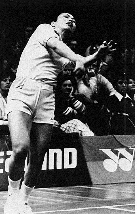 Hiroe yuki (jpn) playing againstlene koppen (den) - uber cup 1978 - wb aug 1978
