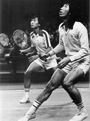 World champions and 6-time all england winners tjun tjun (r) and wahyjudi (ina) dominated md from 1968-81 - encyclopaedia of badminton by pat davis 308