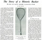 The Story of a Historic Racket